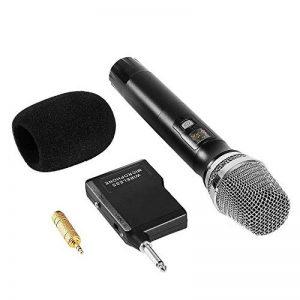 Microphone Sans Fil Micro Karaoké UHF avec 1 Récepteur + 2 Connecteur de 6,35 mm et de 3.55mm Micro Karaoké HF Récepteur Professionne à Main pour Karaoké Haut-parleurs PA, DJ, Fête (Pile non Fourni) de la marque ARCHEER image 0 produit