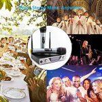 Microphone Sans Fil Micro Sans Fil UHF Micro HF Karaoké Système de Microphone LCD Récepteur 2 Canaux Micro Pratique 2 Microphones à Main pour Karaoké Réunion Interview de la marque Sumbay image 4 produit