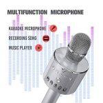 Microphone sans Fil NASUM Haut-parleur Multifonction Portable Bluetooth Compatible avec PC Téléphone Android IOS pour Chanter KTV Maison Fête Party avec Lampe Coloré LED Dynamique (Gris Foncé) de la marque NASUM image 3 produit