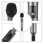 Microphone USB, U-KISS Micro Sans Fil K18 Microphone Portable Karaoké Système de Microphone Récepteur 2 Canaux Micro à Main pour Karaoké Réunion Interview de la marque U-KISS image 1 produit