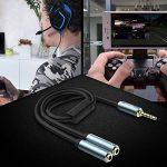 MillSO Câble Adaptateur Jack 3.5mm Mâle vers 2 Femelle pour Gaming Headset, Xbox One, PS4, Smartphones et ordinateur portable - 30CM de la marque MillSO image 3 produit