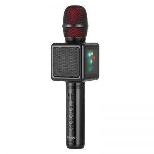 Mircophone Karaoké Sans Fil, Cocopa Bluetooth Micro Portable Haut Parleur Intégré Chanter Player Karaoké Compatible avec iPhone Android Smartphone pour KTV à la Maison/Soirée de la marque Cocopa image 0 produit