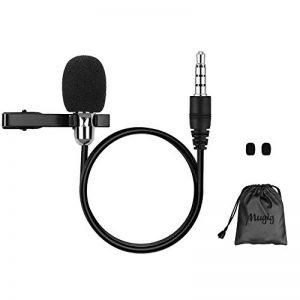 Mugig Micro Cravate Professionnel Omnidirectionnel Microphone Condensateur avec Clip-On pour Youtube / Interview / Podcast / Vidéo, Projet pour IOS / Andriod / Windows / Mac ( 1.5m ) de la marque Mugig image 0 produit