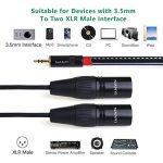 NANYI XLR 3.5mm Male Splitter Cables, TRS Stereo Male vers deux XLR mâle Interconnect Audio Cable de microphone  (1,5 mètres / 5 pieds) de la marque NANYI image 2 produit