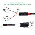 NANYI XLR 3.5mm Male Splitter Cables, TRS Stereo Male vers deux XLR mâle Interconnect Audio Cable de microphone  (1,5 mètres / 5 pieds) de la marque NANYI image 4 produit