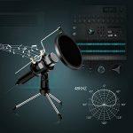 NASUM Microphone à Condensateur Professionnel Prise USB - Plug & Play Microphones Home Studio, Filtre Acoustique Double Couche, pour Youtube, Facebook, Podcasting, Jeux de la marque image 3 produit