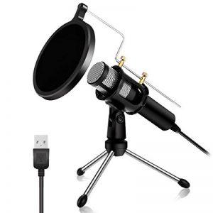 NASUM Microphone à Condensateur Professionnel Prise USB - Plug & Play Microphones Home Studio, Filtre Acoustique Double Couche, pour Youtube, Facebook, Podcasting, Jeux de la marque NASUM image 0 produit