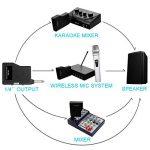 NASUM Microphone Professionnel Portable sans fil Rechargeable PC-K3 avec récepteur de 6,35 mm Conception multi-canaux pour Karaoké, Haut-parleurs PA, Amplificateur, DJ, Fête, Église, Mariage de la marque NASUM image 4 produit