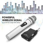 NASUM Microphone Professionnel Portable sans fil Rechargeable PC-K3 avec récepteur de 6,35 mm Conception multi-canaux pour Karaoké, Haut-parleurs PA, Amplificateur, DJ, Fête, Église, Mariage de la marque NASUM image 1 produit