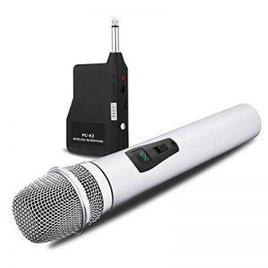 NASUM Microphone Professionnel Portable sans fil Rechargeable PC-K3 avec récepteur de 6,35 mm Conception multi-canaux pour Karaoké, Haut-parleurs PA, Amplificateur, DJ, Fête, Église, Mariage de la marque NASUM image 0 produit
