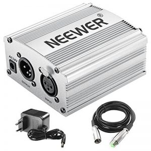 Neewer 1- Canal 48V Alimentation Fantôme Argenté avec Adaptateur et Un XLR Câble Audio de la marque Neewer image 0 produit