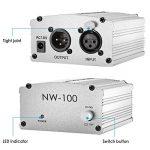 Neewer 1- Canal 48V Alimentation Fantôme Argenté avec Adaptateur et Un XLR Câble Audio de la marque Neewer image 4 produit