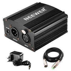 Neewer 1- Canal 48V Alimentation Fantôme Noir avec Adaptateur et Un XLR Câble Audio de la marque Neewer image 0 produit