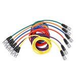 Neewer 6-Pack 1M Câbles Audio, XLR Mâle à XLR Femelle Microphone Câbles de Couleur (Vert, Bleu, Violet, Rouge, Jaune, Orange) de la marque Neewer image 4 produit
