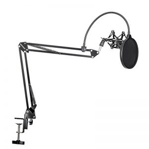 Neewer 90087700 Kit NB-35 Support de Microphone Suspension Boom avec Fixation de Table, NW (B-3) Filtre anti-pop et Support Antichoc Métallique pour Enregistrement Studio - Noir de la marque Neewer image 0 produit