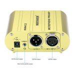 Neewer Canal Unique 48V Alimentation Fantôme Pré-amplificateur Compact Multi-fonction avec Adaptateur pour Tous Types de Microphone à Condensateur et Materiel d'Enregistrement Musical (Or) de la marque Neewer image 4 produit