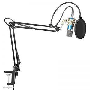 Neewer Microphone à Condensateur et NW-35 Réglable Ciseaux Bras de Suspension d'Enregistrement Microphone avec Support de Anti-choc et Kit de Montage Pince Studio Radiodiffusion de la marque Neewer image 0 produit