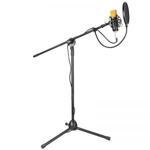 Neewer Microphone à Condensateur Kit Micro de Studio: NW-700 Microphone, NW-107 Trépied avec Bras Suspension, Support Anti-Choc, NW-3 Filtre Anti-Pop, Pare-brise en Mousse, et Câble Audio de la marque Neewer image 0 produit