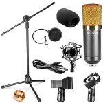 Neewer Microphone à Condensateur Kit Micro de Studio: NW-700 Microphone, NW-107 Trépied avec Bras Suspension, Support Anti-Choc, NW-3 Filtre Anti-Pop, Pare-brise en Mousse, et Câble Audio de la marque Neewer image 1 produit