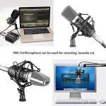 Neewer® NW-700Ensemble Micro à condensateur de diffusion et d'enregistrement pour Studio Professionnel incluant 1Micro NW-700 + 1 suspension anti choc + 1 bonnette en mousse anti-vent de type boule + 1 câble audio (Noir) de la marque Neewer image 4 produit