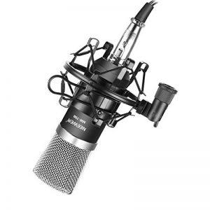 Neewer® NW-700Ensemble Micro à condensateur de diffusion et d'enregistrement pour Studio Professionnel incluant 1Micro NW-700 + 1 suspension anti choc + 1 bonnette en mousse anti-vent de type boule + 1 câble audio (Noir) de la marque Neewer image 0 produit