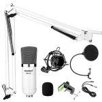Neewer® NW 700Le kit Microphone contient: (1) Microphone condensateur + (1) Support de bas de cisaillement suspendu pour microphone avec collier de fixation + (1) Filtre pop+ (1) Bordure choc (Blanc) de la marque Neewer image 1 produit