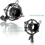 Neewer® NW 700Le kit Microphone contient: (1) Microphone condensateur + (1) Support de bas de cisaillement suspendu pour microphone avec collier de fixation + (1) Filtre pop+ (1) Bordure choc (Blanc) de la marque Neewer image 4 produit