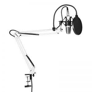 Neewer® NW 700Le kit Microphone contient: (1) Microphone condensateur + (1) Support de bas de cisaillement suspendu pour microphone avec collier de fixation + (1) Filtre pop+ (1) Bordure choc (Blanc) de la marque Neewer image 0 produit