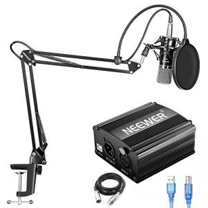 Neewer NW-700 Microphone Condensateur avec Alimentation Phantôme USB 48V, NW-35 Bras Suspension, Support Antichoc, Filtre Antipop, pour Enregistrement Maison Studio YouTube Live Periscope(Noir) de la marque Neewer image 0 produit