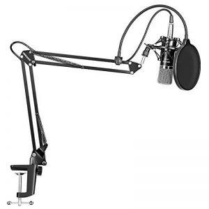 Neewer NW-700 Microphone à Condensateur Professionnel Enregistrement Studio & NW-35 Support de Microphone à Bras de Ciseaux Réglable avec Shock Mount et Kit de Pince de Fixation de la marque Neewer image 0 produit