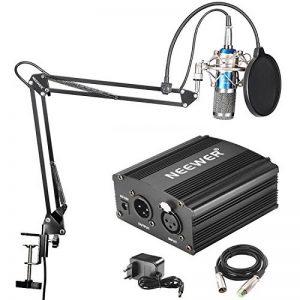 Neewer NW-800 Microphone à Condenseur (Bleu) et NW-35 Suspension Support Bras à Ciseaux avec XLR Câble et Clamp de Montage et NW-3 Filtre Pop et 48V Alimentation Fantôme de la marque Neewer image 0 produit