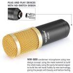 Neewer NW-800 Microphone Enregistrement Studio Radio Kit Inclus (1) Microphone à Condensateur Professionel Noir + (1) Support de Microphone Antichoc + (1) Bouchon Anti-Vent en Mousse + (1) Câble d'Alimentation de la marque Neewer image 4 produit