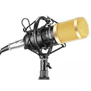 Neewer NW-800 Microphone Enregistrement Studio Radio Kit Inclus (1) Microphone à Condensateur Professionel Noir + (1) Support de Microphone Antichoc + (1) Bouchon Anti-Vent en Mousse + (1) Câble d'Alimentation de la marque Neewer image 0 produit