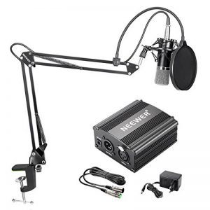 Neewer NW700 Kit de Microphone à Condensateur avec Micro Noir 48V Alimentation Fantôme NW35 Support de Bras avec AntiChoc et Filtre Pop XLR Câble Mâle à Femelle pour Enregistrement de la marque Neewer image 0 produit