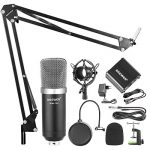 Neewer NW700 Kit de Microphone à Condensateur avec Micro Noir 48V Alimentation Fantôme NW35 Support de Bras avec AntiChoc et Filtre Pop XLR Câble Mâle à Femelle pour Enregistrement de la marque Neewer image 1 produit