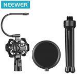 Neewer Pro Mini Trépied de Microphone avec Support Antichoc et Filtre Anti-pop pour Podcasts Enregistrement Vocal en Studio, Chat en ligne, Réunions et Conférences (NW-2) de la marque Neewer image 1 produit