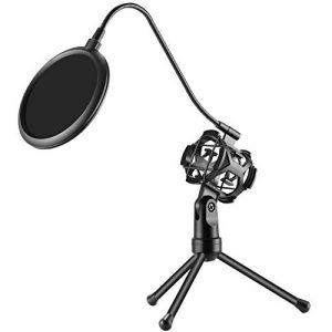 Neewer Pro Mini Trépied de Microphone avec Support Antichoc et Filtre Anti-pop pour Podcasts Enregistrement Vocal en Studio, Chat en ligne, Réunions et Conférences (NW-2) de la marque Neewer image 0 produit