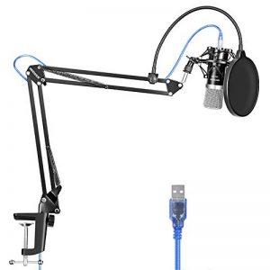 Neewer USB Microphone pour Windows/Mac avec Bras de Suspension à Ciseaux, Antichoc, Câble USB et Fixation de Table pour Radiodiffusion et Enregistrement Sonore (Noir) de la marque Neewer image 0 produit