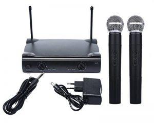 niceEshop(TM) Double Système de Microphone sans Fil avec le Type SHURE UT4 sans Fil +2 MIC ( Fiche Européenne) de la marque niceEshop image 0 produit