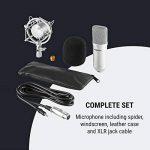 oneConcept Mic-700 Studio Microphone • Microphone à condensateur • Microphone de Gaming • Jusqu'à 140 DB • Ø 34mm • Spider Uni • Pare-Vent • XLR • Argent de la marque OneConcept image 4 produit