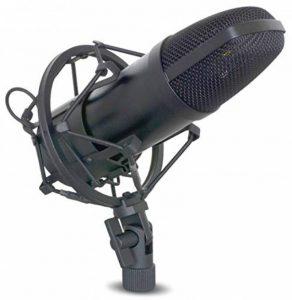 Power Dynamics PDS-MO1 Microphone de studio - Micro professionnel à condensateur (filtre anti distortion, sortie XLR) - noir élégant de la marque Power Dynamics image 0 produit