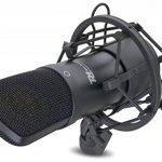 Power Dynamics PDS-MO1 Microphone de studio - Micro professionnel à condensateur (filtre anti distortion, sortie XLR) - noir élégant de la marque Power Dynamics image 1 produit