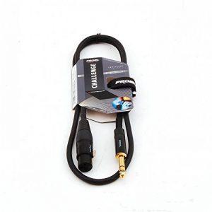 Proel Challenge Series Connecteurs Neutrik stéréo TRS Jack 6,3mm vers XLR femelle à 3broches 5 m de la marque Proel image 0 produit