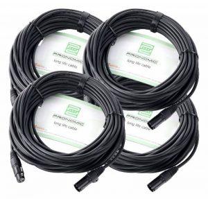 Pronomic Stage XFXM-20 Câble Micro XLR 20m noir Lot de 4 de la marque Pronomic image 0 produit