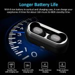 QCY Écouteur Bluetooth, Casque Bluetooth 5.0 Sans Fil Antibruit Oreillettes Intra Auriculaire Magnétique 16H de Lecture, Son Stéréo 3D, Micro Intégré, Etanche IPX4 avec Boîte de Charge pour Sport de la marque Cocoda image 2 produit