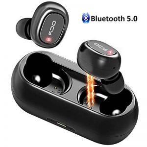 QCY Écouteur Bluetooth, Casque Bluetooth 5.0 Sans Fil Antibruit Oreillettes Intra Auriculaire Magnétique 16H de Lecture, Son Stéréo 3D, Micro Intégré, Etanche IPX4 avec Boîte de Charge pour Sport de la marque Cocoda image 0 produit