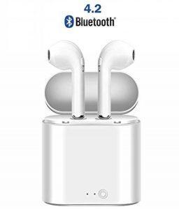 Qeezo Casque Bluetooth, écouteurs sans Fil avec Box, Haut Niveau de Charge Faible Bruit, Petit et Compact, du Micro HD pour iPhone et Samsung pour Android … (Bluetooth 4.2) de la marque Qeezo image 0 produit