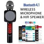 SHENGY sans Fil Bluetooth USB Microphone Haut-Parleur, avec LED lumière Mini Home KTV pour Jouer de la Musique et de Chant Lecteur de Haut-Parleur pour extérieur Muisc Party de la marque SHENGY image 3 produit