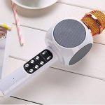SHENGY sans Fil Bluetooth USB Microphone Haut-Parleur, avec LED lumière Mini Home KTV pour Jouer de la Musique et de Chant Lecteur de Haut-Parleur pour extérieur Muisc Party de la marque SHENGY image 2 produit