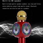 SHENGY sans Fil Bluetooth USB Microphone Haut-Parleur, avec LED lumière Mini Home KTV pour Jouer de la Musique et de Chant Lecteur de Haut-Parleur pour extérieur Muisc Party de la marque SHENGY image 4 produit